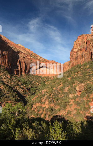 USA, Utah, Zion National Park, Great Arch - Stock Photo