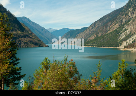Lake Seton, near Lillooet, British Columbia, Canada - Stock Photo
