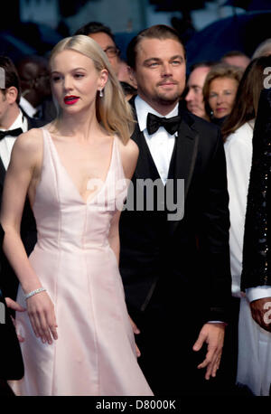 Carey Mulligan and Leonardo DiCaprio attend the premiere
