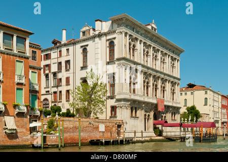 Casino on Grand Canal, Cannaregio, Venice, Italy - Stock Photo