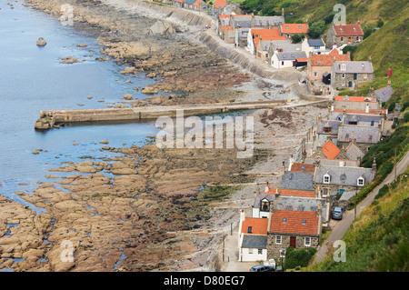 The village of Crovie, Aberdeenshire, Scotland. - Stock Photo