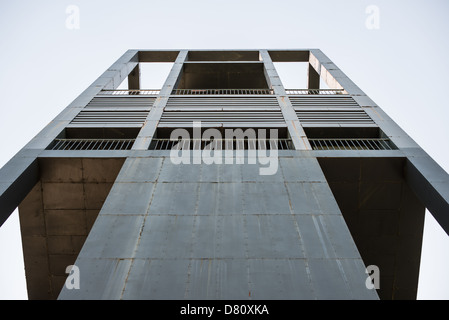 Looking up at the eastern face of the Netherlands Carillon next to Arlington National Cemetery and the Iwo Jima Memorial. First donated in 1954, the Carillon was moved to its current location in 1960. It was a gift of the Netherlands to the United States in thanks for US aid during World War II. Stock Photo