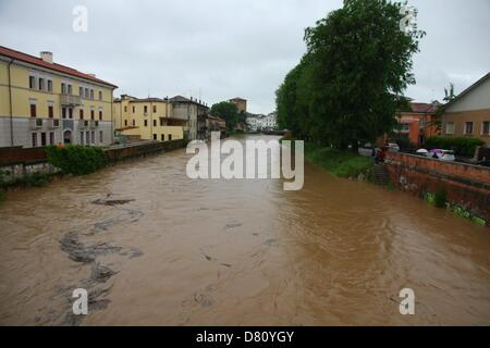 Vicenza, Italy. 16th May 2013. the Bacchiglione river in ...