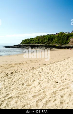 Beach Jacksons Bay, Barry Island, Vale of Glamorgan, South Wales, UK. - Stock Photo