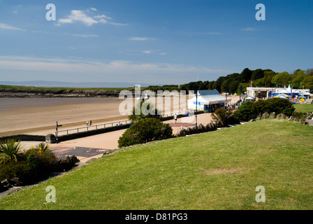 beach whitemore bay barry island vale of glamorgan south wales uk - Stock Photo