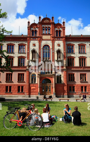 University, Rostock, baltic sea coast, Mecklenburg-Western Pomerania, Germany - Stock Photo