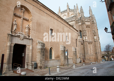 TOLEDO - MARCH 8: Monasterio San Juan de los Reyes or Monastery of Saint John of the Kings on March 8, 2013 in Toledo, - Stock Photo