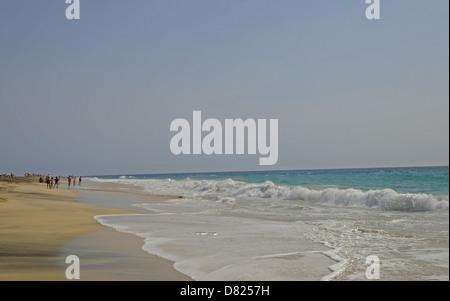 Ponta Preta beach Santa Maria Sal Cape Verde - Stock Photo