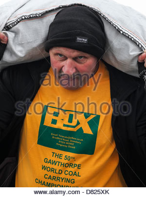 The World Coal Carrying Championships.  Gawthorpe near Ossett West Yorkshire England - Stock Photo
