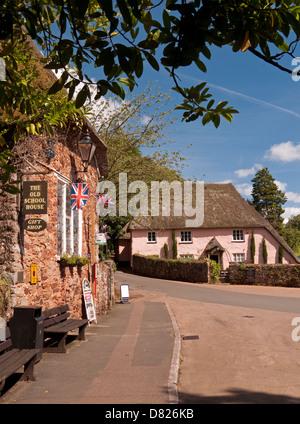 The Famous Thatched Village of Cockington, near Torbay, Devon, England - Stock Photo