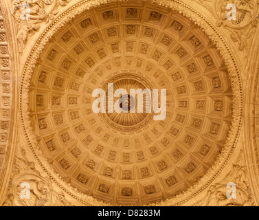 TOLEDO - MARCH 8: Cupola of stairs in Monasterio San Juan de los Reyes or Monastery of Saint John of the Kings - Stock Photo