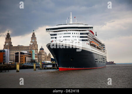Liverpool, UK 17th May, 2013. The Big Cruise Liner Terminal where the Passenger ship registered in Bermuda Liner - Stock Photo