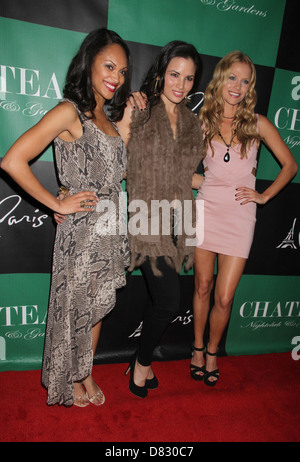 Cynthia Addai-Robinson, Katrina Law and Ellen Hollman The Leading Ladies Of 'Spartacus: Vengeance' Party at Chateau - Stock Photo