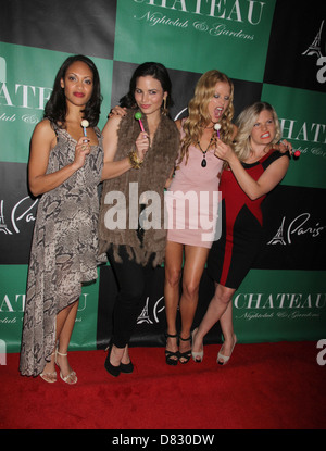 Cynthia Addai-Robinson, Katrina Law, Ellen Hollman and Bonnie Sveen The Leading Ladies Of 'Spartacus: Vengeance' - Stock Photo