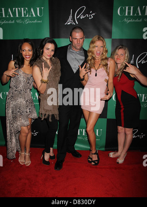 Cynthia Addai-Robinson, Katrina Law, Stephen Dunlevy, Ellen Hollman and Bonnie Sveen The Leading Ladies Of 'Spartacus: - Stock Photo
