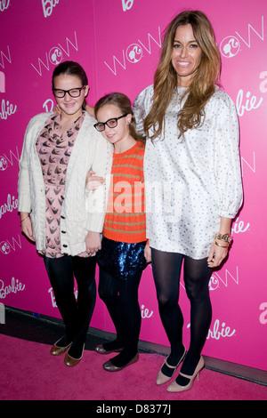 Kelly Bensimon, Sea Bensimon and Teddy Bensimon visting Barbie - The Dream Closet at the David Rubenstein Atirum - Stock Photo