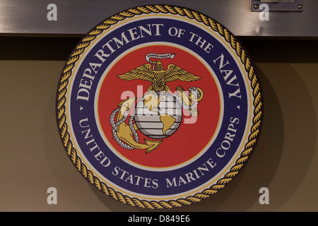 Official seal of the US Marine Corps - Stock Photo