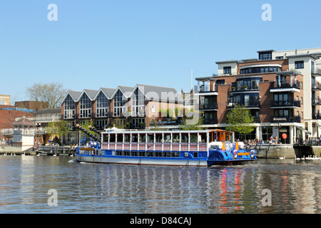 ... Riverside Apartments On The Thames At Kingston Upon Thames, Surrey,  England UK