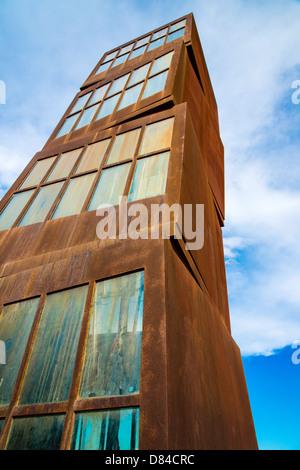 Estel Ferit sculpture by Rebecca Horn, Barcelona, Catalonia, Spain - Stock Photo
