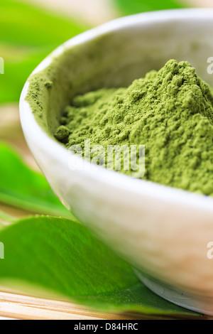 Matcha Tea Powder - Stock Photo