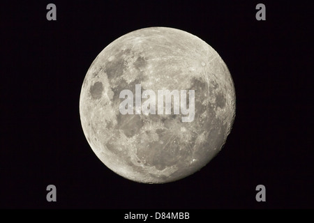 The moon as seen from the Southern Hemisphere, Melbourne, Australia. - Stock Photo