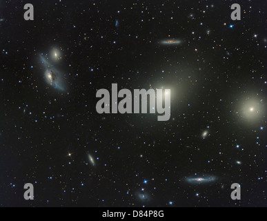 The Virgo Cluster, a cluster of galaxies in the constellation Virgo. - Stock Photo
