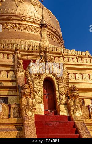 The Shwezigon Pagoda or Shwezigon Paya is a Buddhist temple located in Nyaung-U, a town near Bagan, in Burma, built - Stock Photo