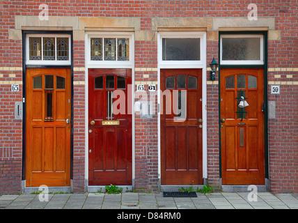 Doors on the brick wall - Stock Photo