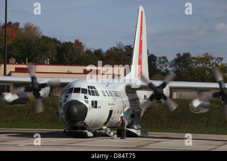 A LC-130H Hercules of the New York Air National Guard. - Stock Photo