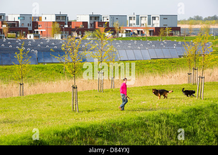 Sun Island in Almere, which is the Netherlands youngest town, in Flevoland, - Stock Photo