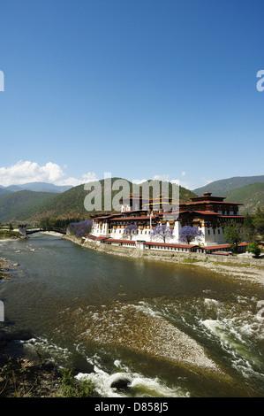 Bhutan - phunaka monastery - Stock Photo