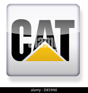 Caterpillar Inc. logo as an app icon. Clipping path included. - Stock Photo