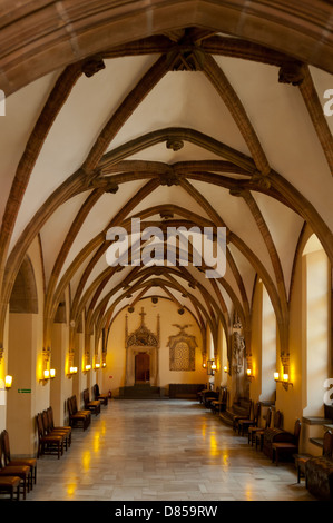 Great Hall in City Hall, Wroclaw, Poland - Stock Photo