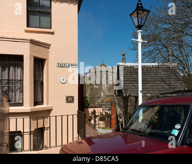 Tackleway and All Saints Church, Hastings, East Sussex - Stock Photo
