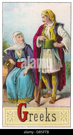 Greek Couple - Stock Photo