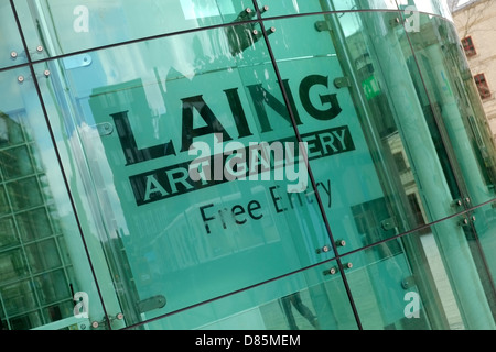The Laing Art Gallery in the centre of Newcastle Upon Tyne - Stock Photo