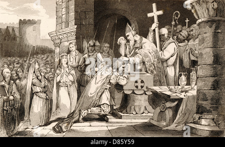 Clovis  Merovingian King Of The Franks - Stock Photo