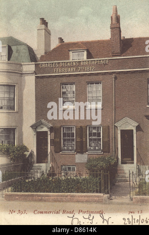 Birthplace Of Charles Dickens - Stock Photo