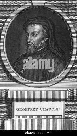 Geoffrey Chaucer  English Poet - Stock Photo