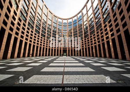 France Alsace Strasbourg European Parliament building - Stock Photo