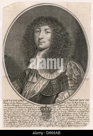 Louis Xiv  King Of France - Stock Photo