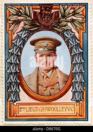 Lieut Woolley Vc Recipient 5 Stamp - Stock Photo