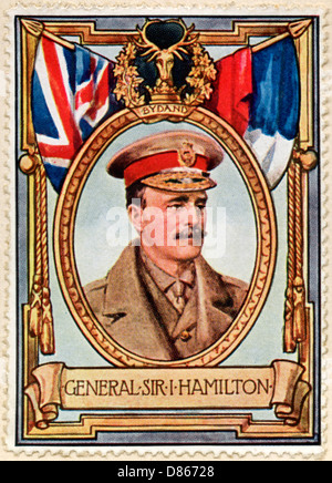 General Sir I Hamilton Stamp - Stock Photo