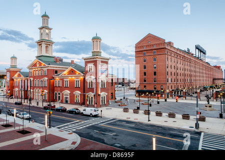 Sports Legends Museum Baltimore, Maryland, in former B and O station,stands next to Orioles Park at Camden Yards - Stock Photo