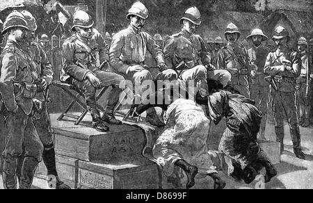King Prempeh Is Humiliation  1896 - Stock Photo