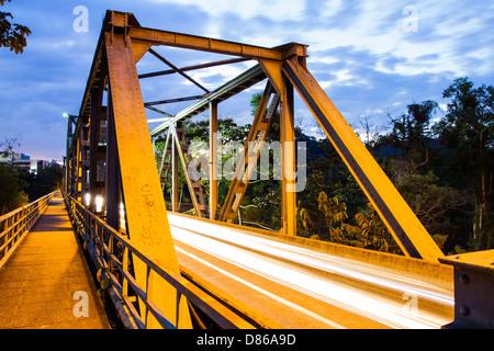 Aldo Pereira de Andrade Bridge. Blumenau, Santa Catarina, Brazil. - Stock Photo