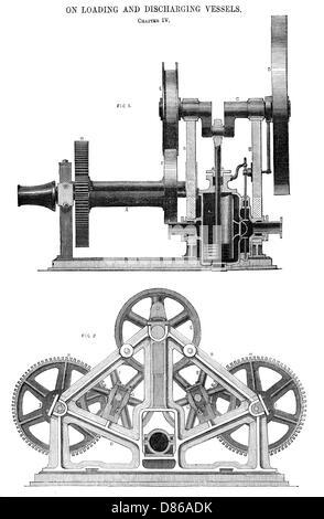 Steam Whipping Engine By J. Scott Russell And Co - Stock Photo