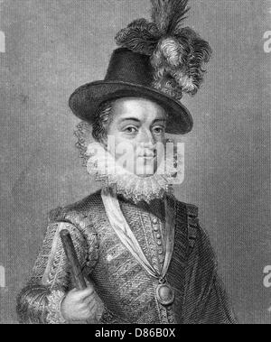 Charles  Prince Of Wales 17th Century - Stock Photo