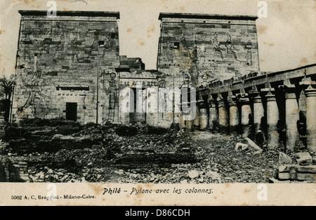 Temple Of Isis  Philae Island  Egypt - Stock Photo