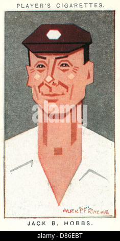 Sir Jack Hobbs English Cricketer - Stock Photo